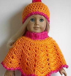 free crochet poncho patterns for dolls
