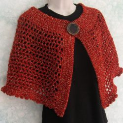 Crochet Poncho with Buttons Pattern