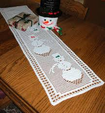 filet crochet table runner patterns free