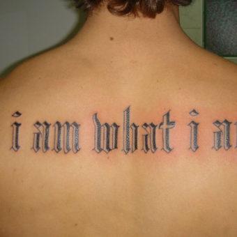 Language Tattoo Designs for men