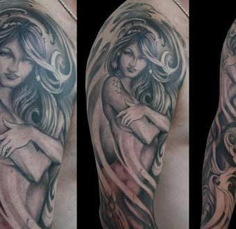 Mermaid Tattoo Designs for men