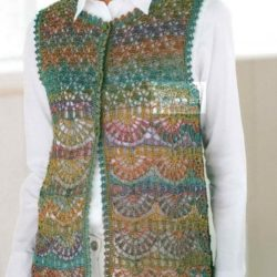 Painted Wool Vest Crochet Pattern