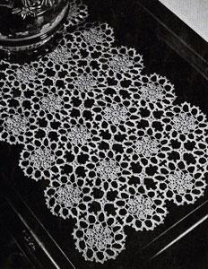 vintage crochet table runner pattern free