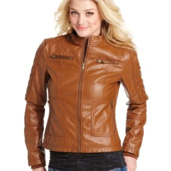 15 Brown Leather Jackets For Girls