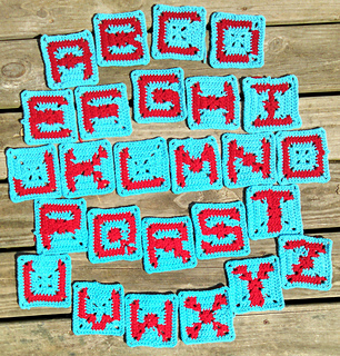 Crochet Alphabet Square Patterns