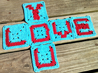 crochet alphabet square patterns free