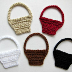 Crochet Basket Applique Pattern