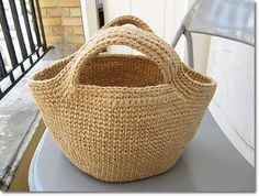 Crochet Basket Bag Pattern