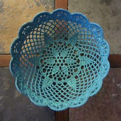 Crochet Basket Doily Pattern