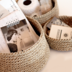 Twine Mini Baskets Crochet Patterns