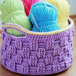Crochet Basket Weave Bag Pattern