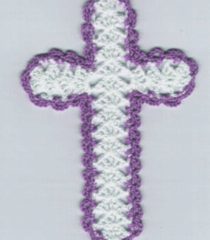 crochet bookmark cross
