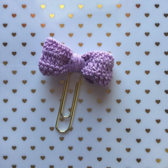 Crochet Bow Bookmark