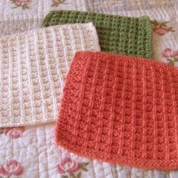 bernat freecrochet dishcloth patterns