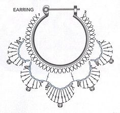 Crochet Earring Pattern Diagram