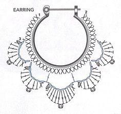 Crochet Earring Pattern Diagram
