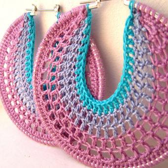 Crochet Earring Patternsin Hoop