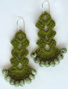 Crochet Earring Patterns Beads