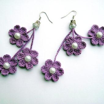 free onlinecrochet earring patterns