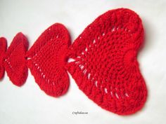 Crochet Heart Table Runner Pattern