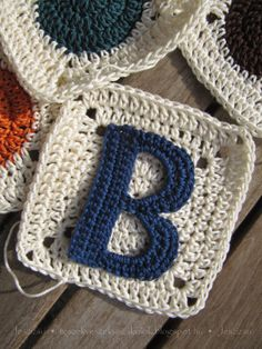 Crochet Letter Applique Patterns