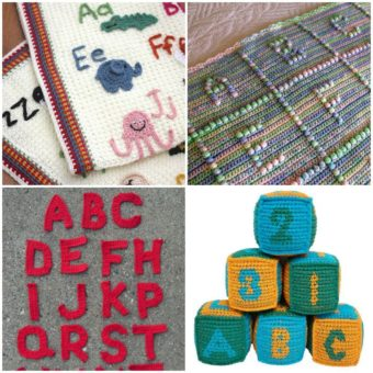 free crochet block letter patterns