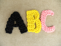 crochet monogram letter patterns