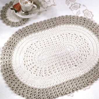 crochet oval placemat pattern free