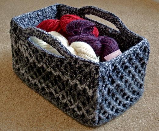largecrochet basket patterns