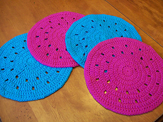 circular crochet placemat patterns