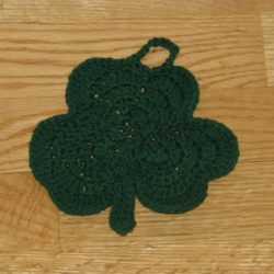 Crochet Shamrock Dishcloth Patterns