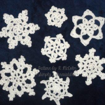 free crochet snowflake applique patterns