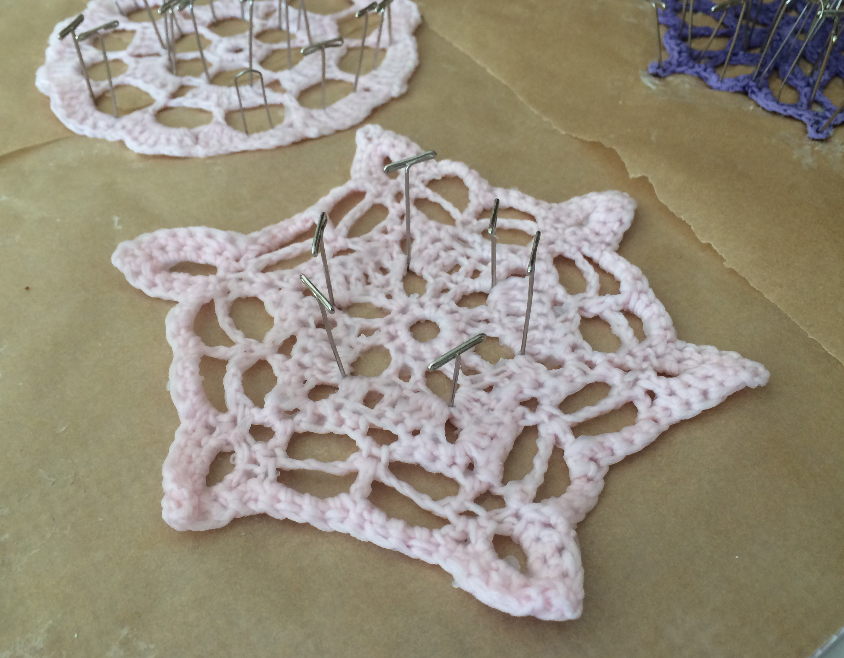Crochet Blocking : crochet snowflake blocking pattern