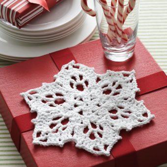 free crochet snowflake dishcloth pattern