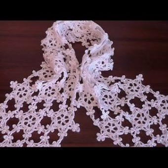 free crochet snowflake scarf patterns