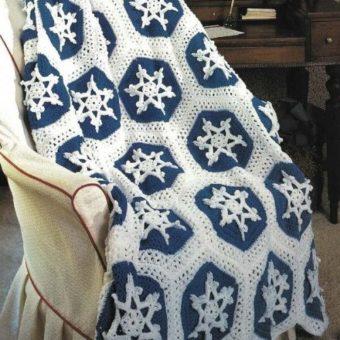 Crochet Snowflake Throw Pattern