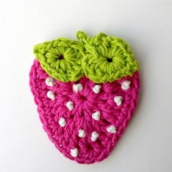 Crochet Strawberry Dishcloth Pattern