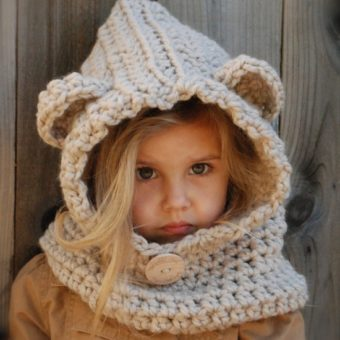 free crochet teddy bear cowl pattern