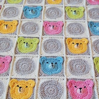crochet teddy bear square pattern