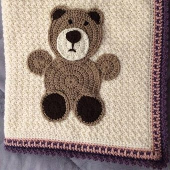free crochet teddy bear motif pattern