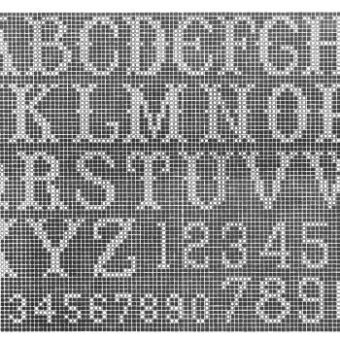 filet crochet letter patterns free