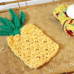 crochet pineapple dishcloth patterns
