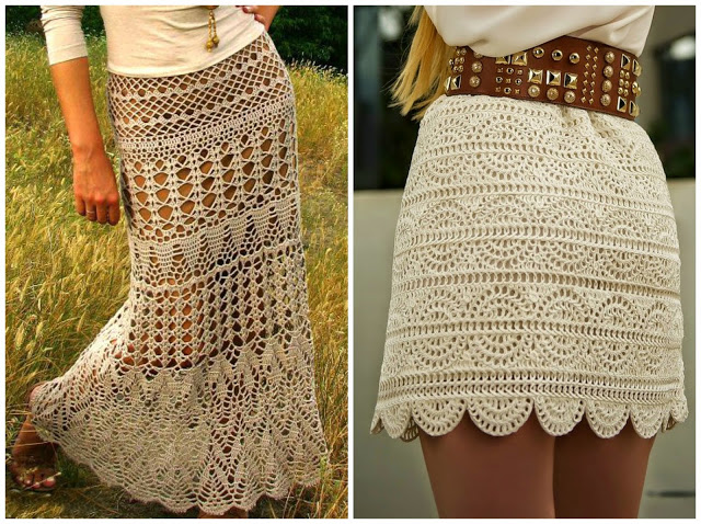 15 Creative Patterns For Crochet Skirts