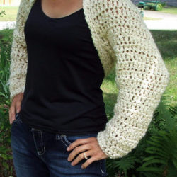 Long Sleeve Crochet Shrug Patterns