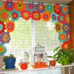 Crochet Flower Curtains