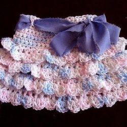 Pattern for Crochet Ruffled Baby Skirt