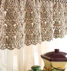 Crochet Kitchen Curtain
