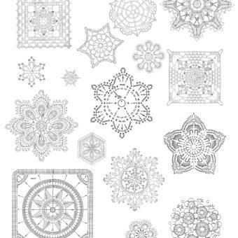 free printablecrochet snowflake patterns