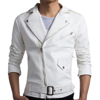 13 White Leather Jackets For Men