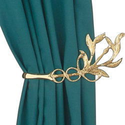 A Unique Brass Curtain Tie Back Idea